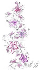 stars flower butterflies color 2face tattoo deviantart