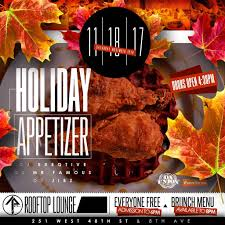today holiday appetizer brunch u0026 day party the attic rooftop