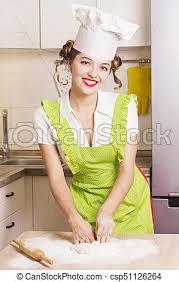 chef cuisine femme femme cuisine chef pâte chapeau cuisine femme image