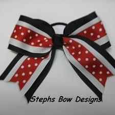 african american cheer hair bows black red white dots cheer bow cheerleader hair bow