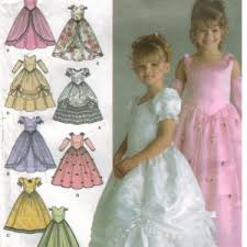 simplicity pattern 4764 toddler and pagent formal dresses