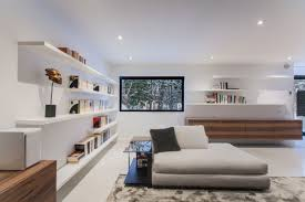 concrete ceiling living room apartment in moscow living room features cool foor