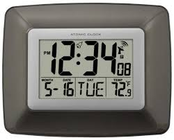 Digital Atomic Desk Clock Clockway Plr Atomic Digital Wall Clock Plr6700