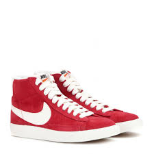 fashional lady nike blazer mid vintage red and white suede high