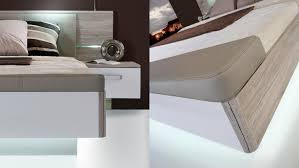 Schlafzimmer Set Poco 1 Rondino Komplettset In Sandeiche Weiß Hochglanz Mit Led
