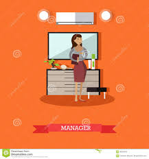 hotel manager concept vector illustration in flat style stock
