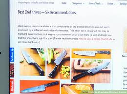 buy kitchen knives how to purchase kitchen knives 12 steps with pictures wikihow