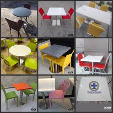 acrylic solid surface stone fast food restaurant table and chair