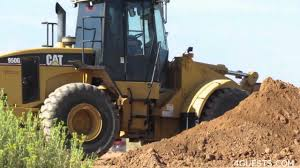 cat 950g wheel loader working moving dirt youtube