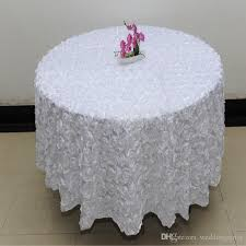 White Table Cloths Wholesale 120 Inches White Color Wedding Table Cloth Round