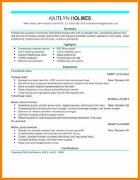 Front Desk Hotel Resume Hotel Resume Example Hotel General Manager Resume Sample