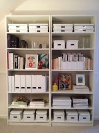 White Billy Bookcase by Oyster Burlap Lining The Back Of Ikea Billy Bookcases Love That