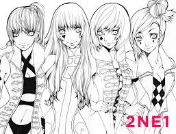 2ne1 By Chestersee16 On Deviantart Coloring Pages Kpop