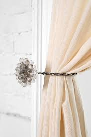 Nursery Curtain Tie Backs by Curtain Tie Back Pins Decorate The House With Beautiful Curtains
