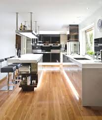 soft hidden light laminate flooring contemporary kitchen design