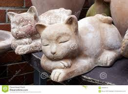 ceramic cat garden ornaments stock photo image 63626674