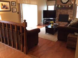 How To Do Interior Design What To Do With Railing And Step Down Into Family Room