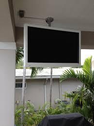 Small Lanai Ideas Outside Tv Good Sounds Pinterest Tvs Backyard And Patios