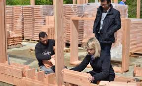 life sized lincoln logs wooden bricks make building a house crazy brikawood assembly