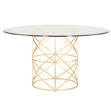 54 x 54 glass table top gold leaf x motif dining table base with 48 glass top or 54 glass