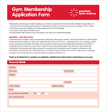 membership application template u2013 12 free word pdf documents
