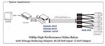 video power balun video balun for cctv cableorganizer com