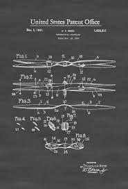Aviation Home Decor Aeronautical Propeller Patent Aviation Blueprint Vintage