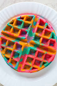 these simple diy colorful tie dye waffles will make your mornings