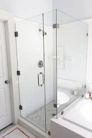 tub with glass shower door best 25 glass shower enclosures ideas only on pinterest