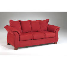 slipcovers for pillow back sofas sensations microfiber pillow back sofa and loveseat set red free