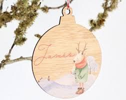 Personalised Reindeer Christmas Tree Decorations by Personalised First Christmas Wooden Christmas Tree Decoration