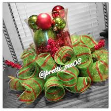 trees decorated deco mesh garland christmas deco mesh garland