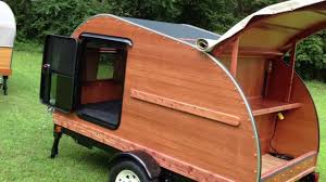 Teardrop Trailer Plans Free by Hillcrest 4x8 Mahogany U0026 Cedar Convertible Teardrop Camper Youtube