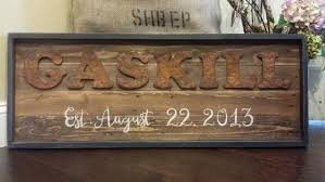 rustic wood sign last name signs established date sign rustic