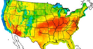 heat map us states us map high temperatures us heat map 070712 thempfa org