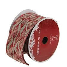 rustic ribbon faded rustic and white ikat wired christmas craft ribbon 2 5 x
