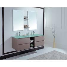 Bathroom Vanity Basins by Avaya 60 Inch Modern Double Sink Bathroom Vanity Unique Grey Oak