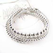 bead bracelet silver sterling images Sterling silver bead bracelets stack bracelet set nikki hills design jpg