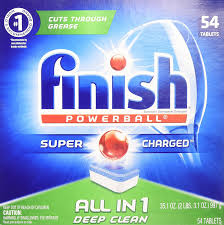 Consumer Reports Dishwasher Detergent Amazon Com Finish All In 1 Powerball 54ct Fresh Dishwasher