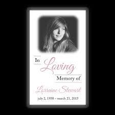 memorial card memorial card layout l topmemorial