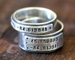 personalized wedding band ring set personalized wedding bands e0280