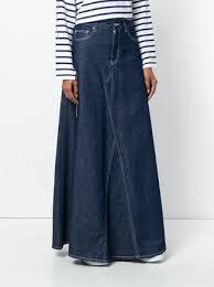 denim maxi skirt 395 mm6 maison margiela denim maxi skirt buy online fast