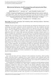 mechanical behavior of self compacting soil cement sisal fiber