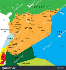 Syria Map Location by Political Map Syria Stock Vector 84706660 Shutterstock