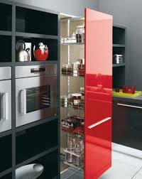 kitchen awesome red white black wood glass modern design and