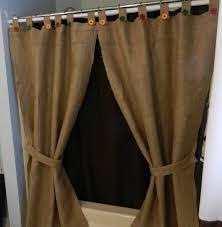 Burlap Shower Curtains Burlap Shower Curtain With Buttons Shower Curtains Ideas