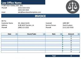 Microsoft Excel Receipt Template Free Attorney Lawyer Invoice Template Excel Pdf Word