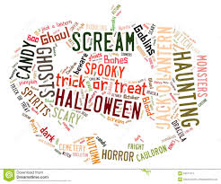 word cloud dealing with halloween stock image image 34611511
