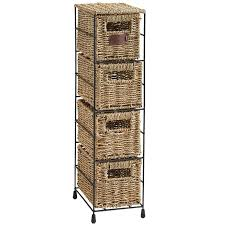 Seagrass Storage Ottoman Vonhaus 4 Tier Seagrass Storage Basket Tower Unit U0026 Reviews Wayfair