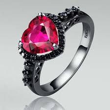 Black And Pink Wedding Rings by Astonishing Ruby Wedding Rings In Classic And Modern Designs